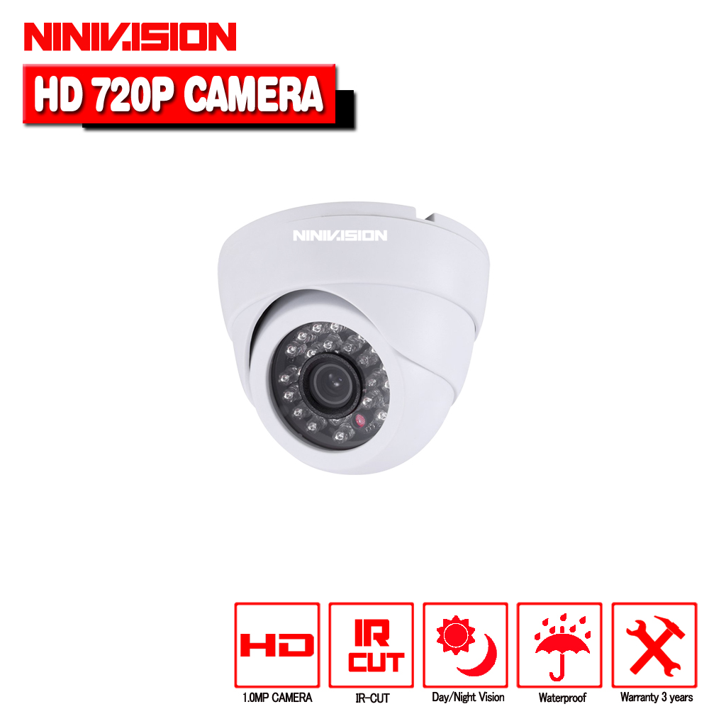 1/4CMOS 1.0Megapixel AHD Dome Camera 24units IR Leds Built-in IR Cut Good Night Vision Home Security HD CCTV Camera smar home security 1000tvl surveillance camera 36 ir infrared leds with 3 6mm wide lens built in ir cut filter