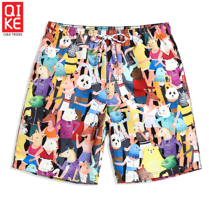 Men's summer bathing suit quick dry surfing   board     short   hawaiian swimsuit liner camouflage beach   shorts   sport de bain hom