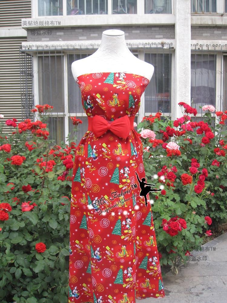 110 * 50cm1pc Weihnachten Stoff 100% Baumwolle Stoff Weihnachten - Kunst, Handwerk und Nähen - Foto 6