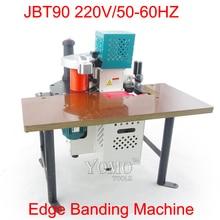 JBT90 Portable manuel bord baguage machine 220 V/50-60 HZ avec contrôle de vitesse machine à bois
