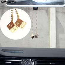 P2227 Dongmanli Han Solo Lucky Dice Prop Gold Color Smugglers Dice/Cube Charm Cool Movie Car Jewelry for toy(China)