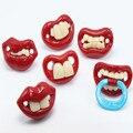 Productos para bebés bebé chupete estilo labios divertidos chupetes de silicona bebé chupete