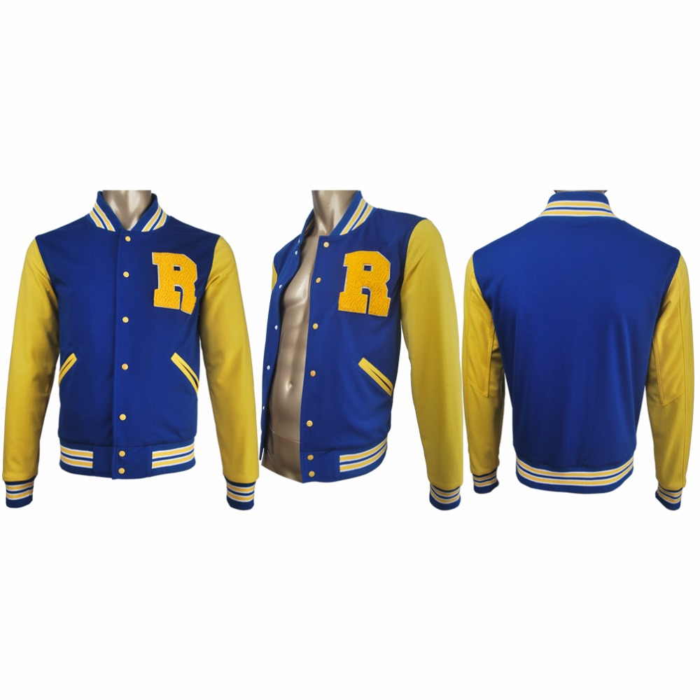 Women Girls 2017 Riverdale TV Series Archibald Archie Andrews Cosplay Jacket Coat Halloween Costume Make-up Xmas Birthday Gift
