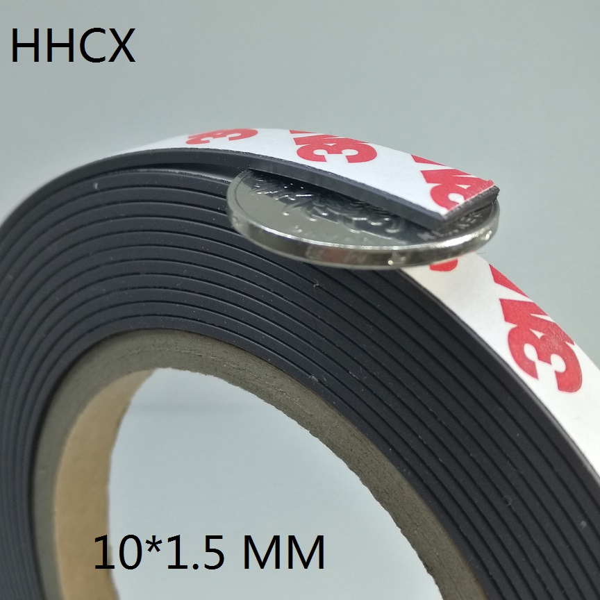 1 Meter/los Gummi Magnet 10*1,5mm Mit 3 Mt Selbst Klebe Flexible Magnetische Streifen Gummi Band Breite 10mm Dicke 1,5mm Produkte HeißEr Verkauf