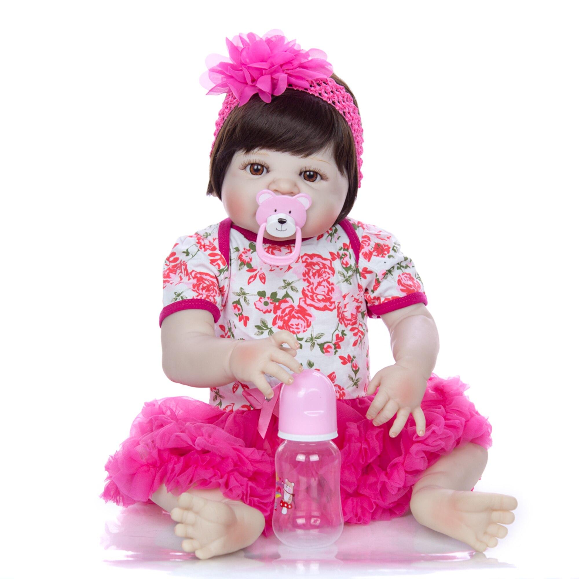 Zoete Prinses Reborn Baby 23 ''Volledige Vinyl Body Siliconen Baby Poppen True te Willen Boneca Pasgeboren Pop Voor Meisje brinquedos Geschenken-in Poppen van Speelgoed & Hobbies op  Groep 3