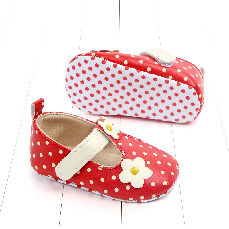 Spring and autumn new baby single shoes flowers baby shoes soft bottom toddler shoes newborn baby girl shoes first walker in First Walkers from Mother Kids