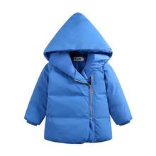 The New Boys Girls Children's Down Jacket Small Medium Children's Hooded 100% White Duck Down Winter Blue Candy Color Outwear 6T