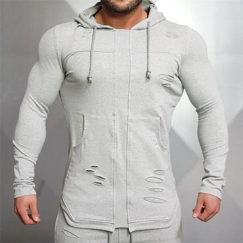 2018 модный бренд Для мужчин толстовки бренд тренажерные залы тела инженеров высокое качество Для мужчин Толстовка Повседневное с капюшоном ...