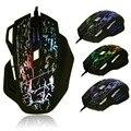 Diodo emissor de luz do mouse gamer mouse cool fashion 7 botões 5500 dpi óptico usb colorful rachadura mouse com fio