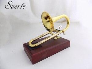Image 4 - Bb/EINE Sopran Trompete mit mundstück Stehen Gelb messing Slide trompete musical instruments