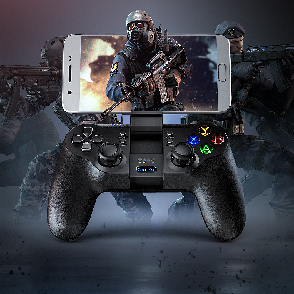 GameSir T1s Bluetooth Wireless Gaming Controller Gamepad untuk Android / Windows / VR / TV Box / PS3