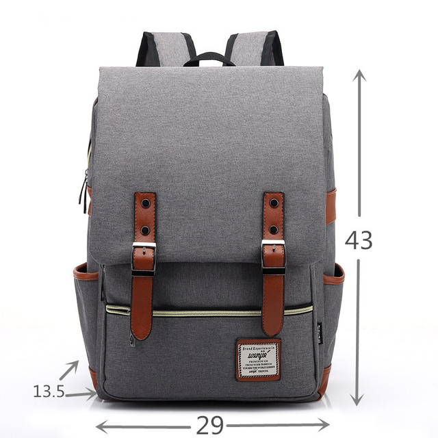 Fashion Vintage Laptop Backpack Women Canvas Bags  Men Oxford Travel Leisure Backpacks