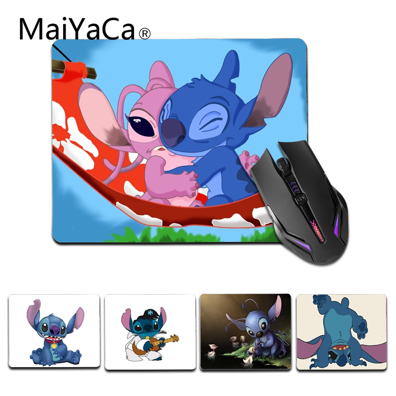 MaiYaCa Vintage Cool Cute Cartoon Stich Office Mice Rubber Mouse Pad Size for 25X29cm Silicon Mousemats