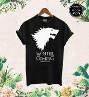Winter Is Coming T Shirt Game Of Thrones Stark House Logo Wolf Jon Snow Sansa Short