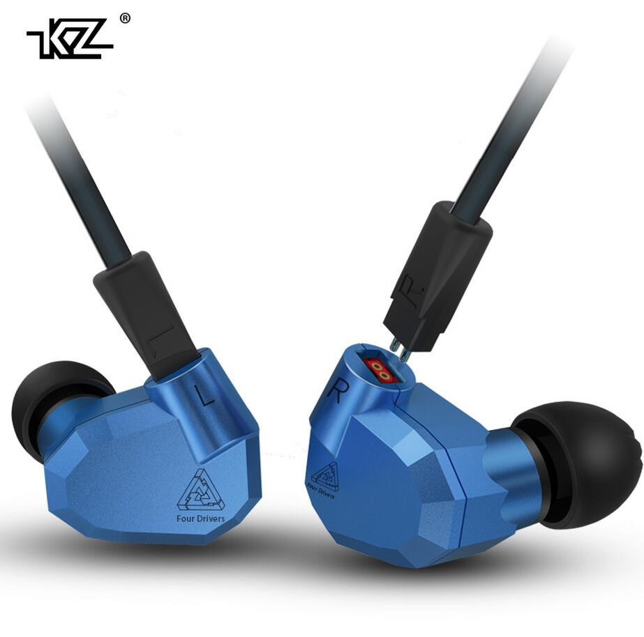 Original KZ ZS5 2DD+2BA Balanced Armature Hybrid In Ear Earphone HIFI DJ Monitor Running Sport Earphones Earplug Headset Earbuds