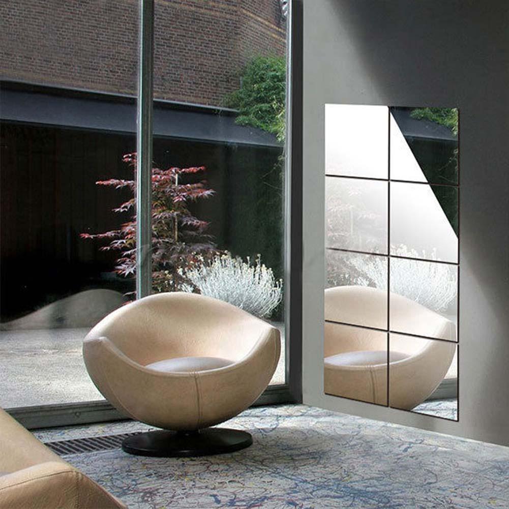 16x Dekorative Spiegel Selbstklebende Reflektieren Mosaik Fliesen ...