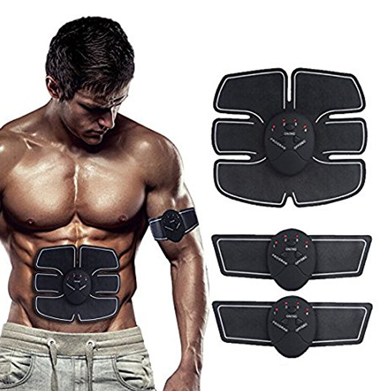 Universal Electric Pulse Body Massager Abdominal Muscle Trainer Slimming 2017 hot sale mini electric massager digital pulse therapy muscle full body massager silver