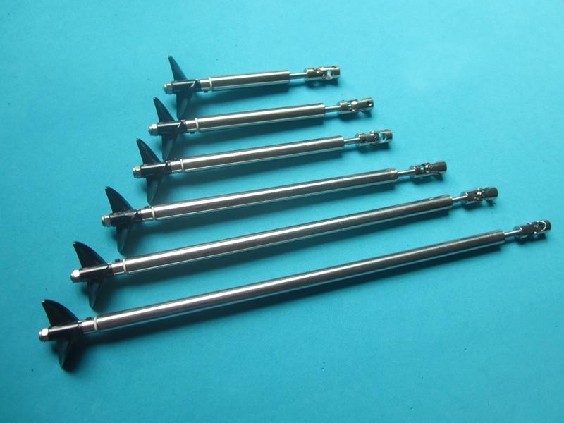 1Set 4mm Drive Shaft Kit L10 13 15 20 25 30cm Transmission Axle D36mm Propeller Props