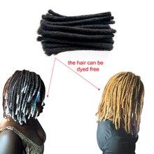 YONNA человеческие волосы среднего размера(0,8 см ширина) дреды для наращивания полностью ручной работы, продается 60 локон в пучке