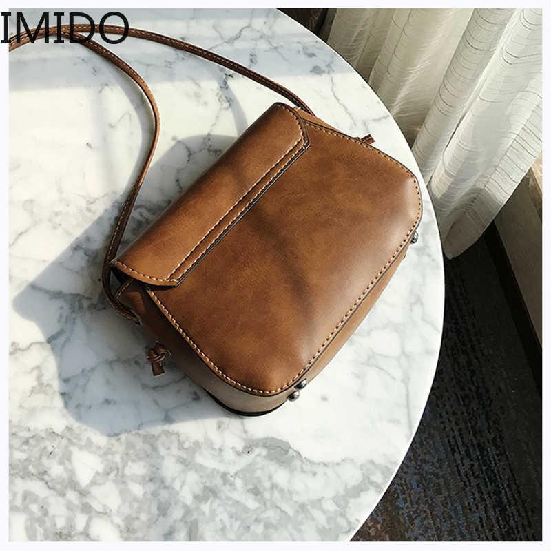 IMIDO 2019 Новое поступление Женская кожаная сумка на плечо декор в виде оленя через плечо женские сумочки Курьерская сумка на ремне высокого качества