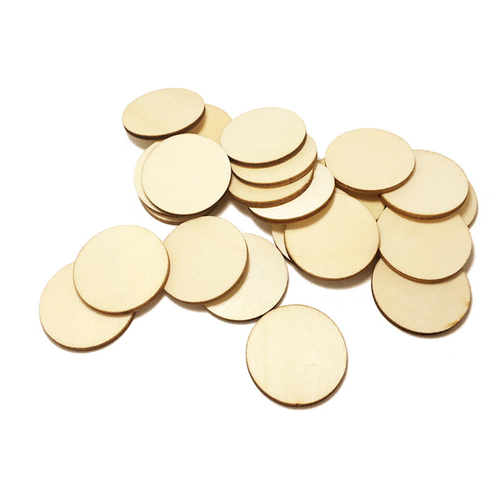Wood Sliced Discs Christmas Ornaments Home Decoration 50pcs Creative Exquisite DIY in Party DIY Decorations from Home Garden