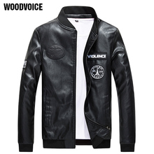 2017 Casual Mens Factory Men s font b Leather b font font b Jacket b font
