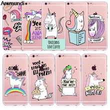 Arsmundi font b 2018 b font NEW Cute Unicorn Phone Cases for font b iPhone b