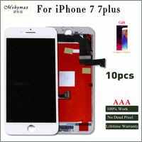 Moymax 10pcs Lot LCD Display For Iphone 7 Lcd Digitizer Complete Replacement All Tested Black White