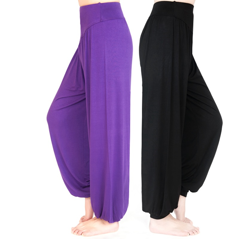 Women Yoga Pants Women Plus Size Sports Pants Yoga Leggings Colorful Bloomers Dance Yoga TaiChi Pants Modal WomenTrousers