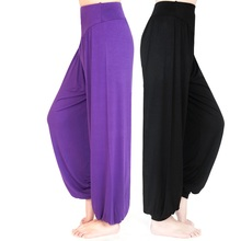 Women Yoga Pants Plus Size yoga leggings Colorful Bloomers Dance TaiChi Full Length Modal clothes