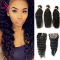 Weave Bundles With Closure Hair Extension With Closure Loose Deep Wave With Closure Brizilian Virgin Hair With Closure