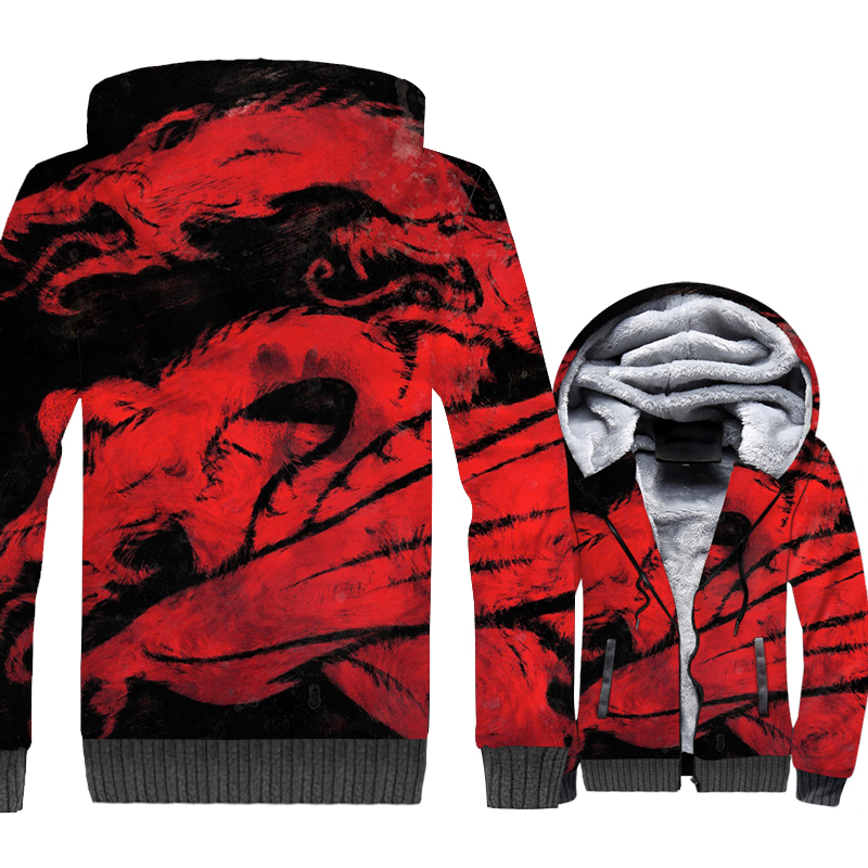 Game of Thrones Jacket Mens 3D Dragon Hoodies A Song of Ice and Fire Sweatshirt Winter Thick Fleece Warm Coat Hip Hop Streetwear