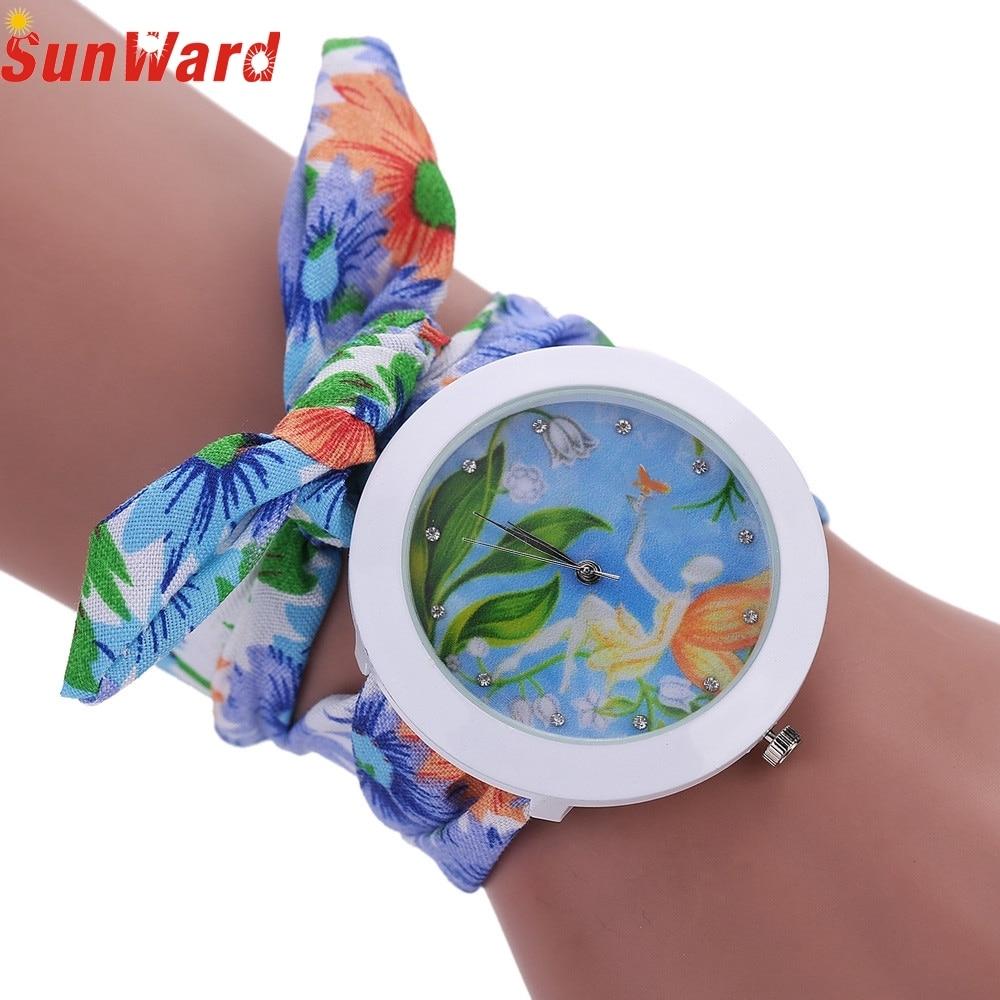 SunWard Quartz Watch relogio masculino erkek kol saati reloj mujer Scarves Crystal Diamond Wrist Watch M170404 relogio masculino erkek kol saati reloj mujer sport wristwatch fashion hours quartz watch d18