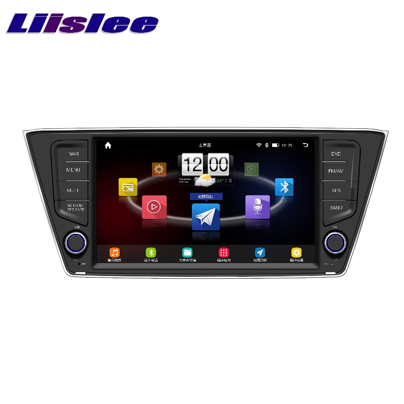 Для Skoda Fabia Mk3 2014 ~ 2017 LiisLee Автомобильный мультимедийный ТВ DVD gps аудио Hi Fi Радио Стерео оригинальный Стиль навигации NAVI