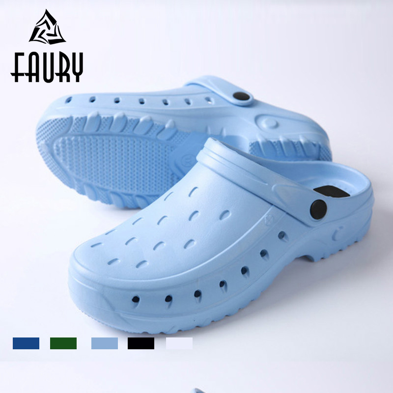 Summer Doctor Pet Hospital Medical Hole Shoes Anti-static Non-slip Surgical Slippers Beauty Salon Work Shoes Dual Purpose Shoes