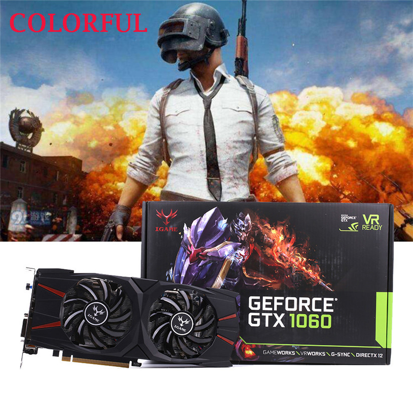 Красочные iGame GTX 1060 вулкан u 6 ГБ видео Графика карты 192bit GDDR5 td0330 челнока ...