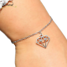 1Pcs Triangle Pendant Bracelets & Bangles Pulseira Feminina For Lovers Fashion Jewelry Gift Bijoux Geometric Shape Bracelet