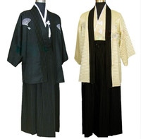 National Clothing Costumes of Traditional Japanese Samurai Men's Kimono Costumes Stage Polyester Performance Adult cosplay