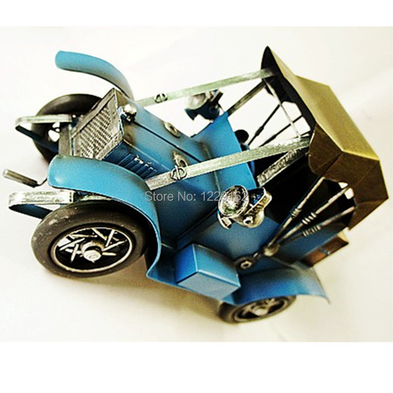 new arrival Vintage car model classical blue classic car creative home decoration/ busin ...