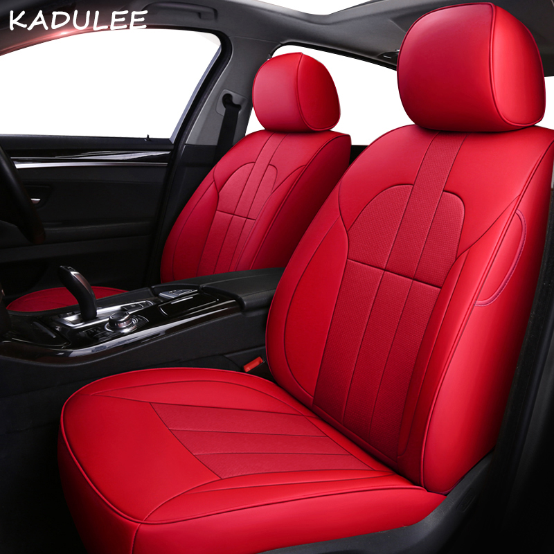 KADULEE leather car seat cover for Landrover Range Rover Discovery 3/4/5 Evoque Freelander Automobiles Seat Covers car seats