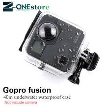 חדש 45M מתחת למים עמיד למים מקרה עבור GoPro היתוך מצלמה צלילה שיכון הר עבור GoPro אביזרי היתוך