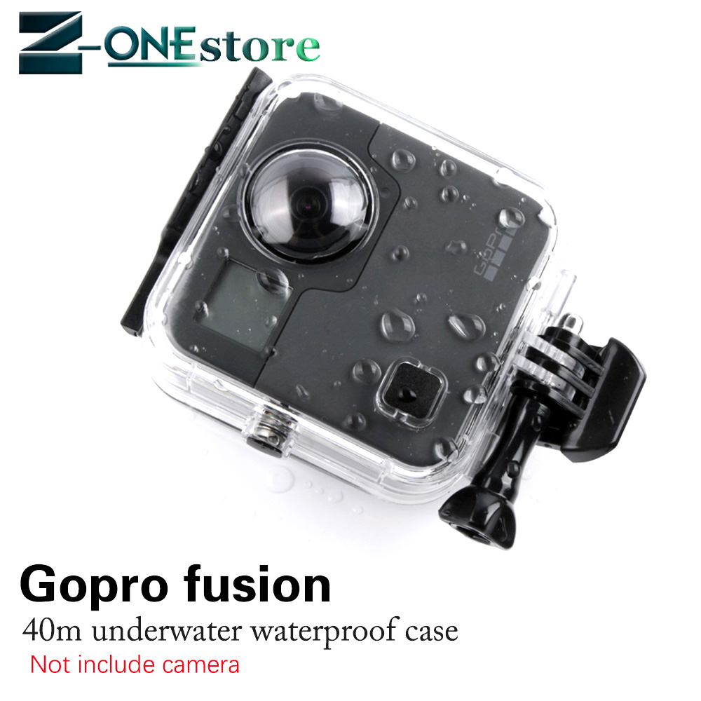 New 45M Underwater Waterproof Case for GoPro Fusion Camera Diving Housing Mount for GoPro Fusion Accessories Sports Camcorder Cases     - title=