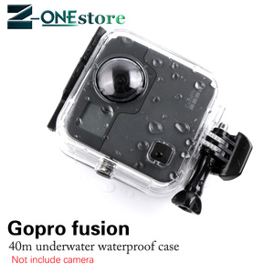 Image 1 - New 45M Underwater Waterproof Case for GoPro Fusion Camera Diving Housing Mount for GoPro Fusion Accessories