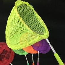 Colorful Kids Telescopic Butterfly Net Fishing Butterfly Bug Insect Net Telescopic Handle Toy Extendable Fishining Net Gifts