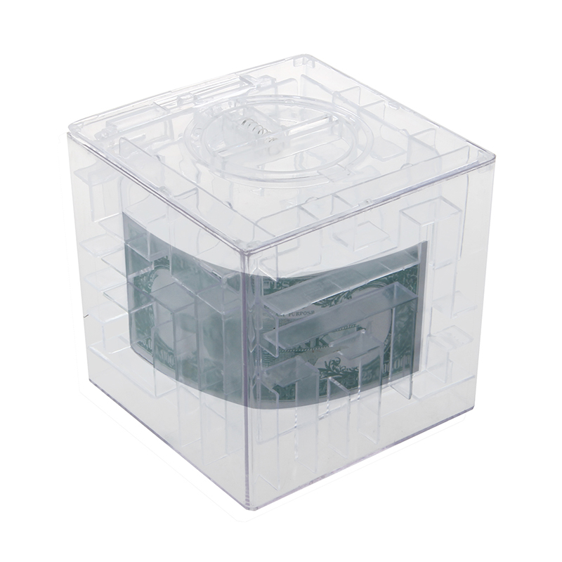 NEW MONEY MAZE COIN BOX PUZZLE GIFT PRIZE SAVING BANK