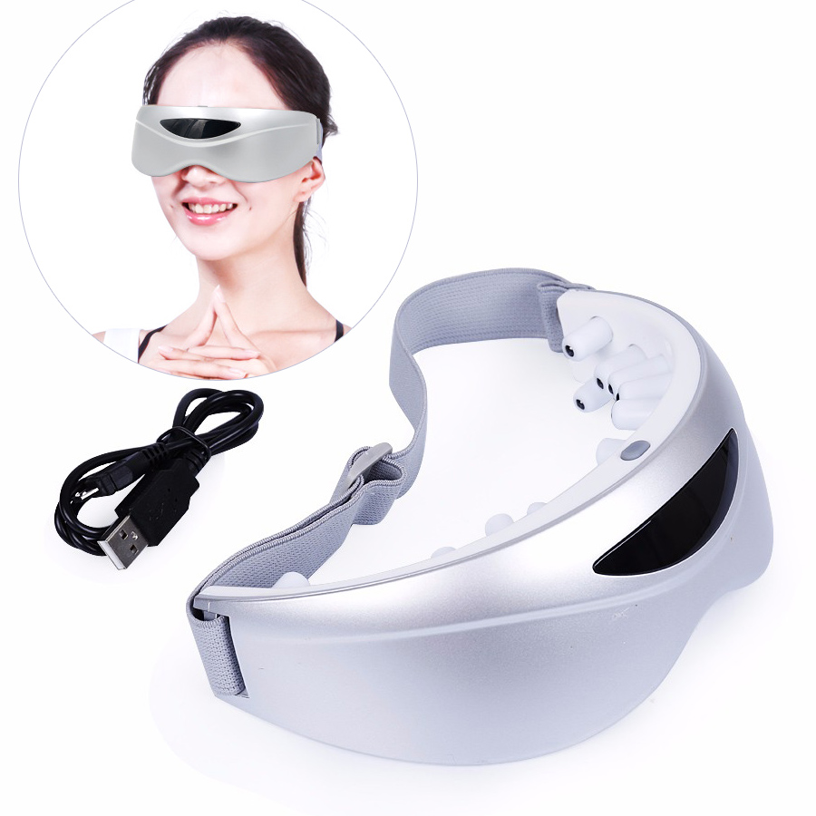 5 Speed 350mA vibration Eye massager mask Wireless Gesture Sensing USB charging Brain Electric health care tools Stress Relief exercises for brain health page 5