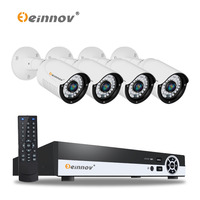 EINNOV 4CH 1080P POE CCTV System Full HD PoE CCTV NVR Kit 2 0MP With Audiao
