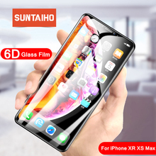 Suntaiho 4D Full Curved Tempered Glass For iPhone 8 Screen Protector protective film 9H Electroplated Curved Edge For iPhone 8