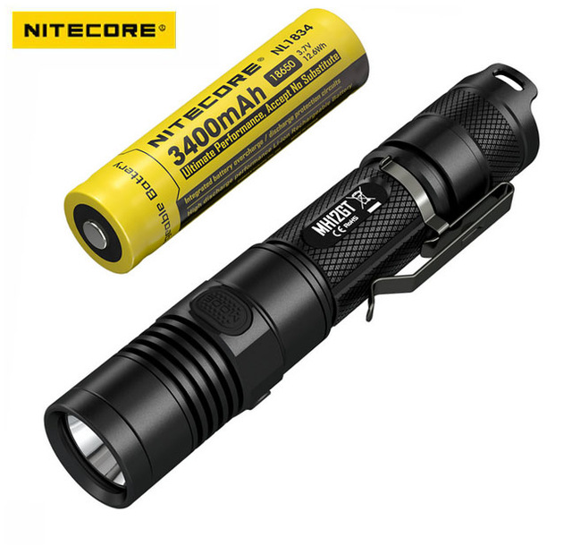 NITECORE 1000 Lm MH12GT XP-L HI V3 LED USB Rechargeable Flashlight Search Rescue Portable Torch +3400mah Battery + Free Shipping sale nitecore mh12gt 1000 lumen led 18650 3400mah battery usb rechargeable flashlight search rescue portable torch free shipping
