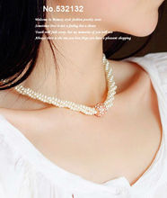 Royal Crystal ball pendant Multistrand Cluster Pearl beads Chokers Necklace Fashion Wedding dresses Bride Women Jewelry